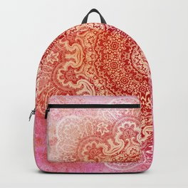 big beauty mandala in warm mood Backpack