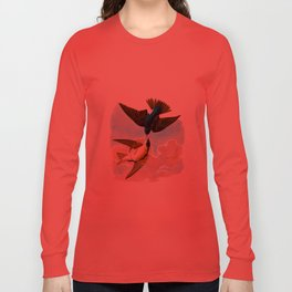 White-bellied Swallow Bird Long Sleeve T-shirt