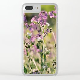 Summer Wildflowers Clear iPhone Case