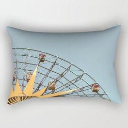 Ferris Wheel and Dusty Blue Sky Rectangular Pillow