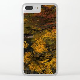 Autumn Leaves and Stream Clear iPhone Case