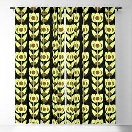 Modern Avocado Flowers Blackout Curtain