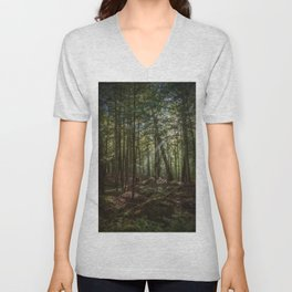 Rays of Sun in the Forest Unisex V-Neck