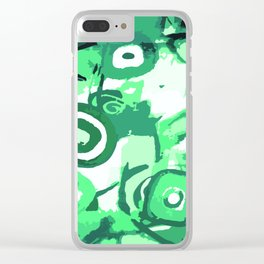 Deep rain forest abstraction Clear iPhone Case