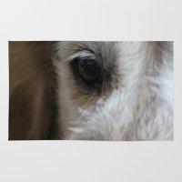 golden retriever Area & Throw Rugs featuring Golden retriever eye 2 by Isabelle Savard-Filteau