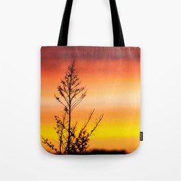 Simple Plant in Camargue Sunrise Tote Bag