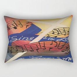 Sing Music Cross Rectangular Pillow