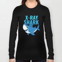 X-Ray Shark Cute X-Ray Tech Design Long Sleeve T-shirt