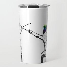 music battle fencing Travel Mug