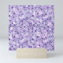Pale Lilac Cobbled Patchwork Mini Art Print