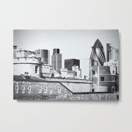 Old Meets New Metal Print