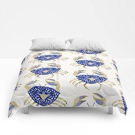 Crab – Navy & Gold Comforters
