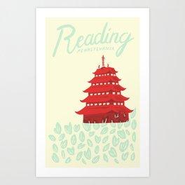 Reading, PA Art Print
