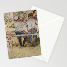 Carl Larsson Breakfast Under The Big Birch Stationery Cards