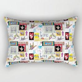 ASL Art Medley Rectangular Pillow