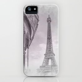 Typical Paris | grey/pink watercolor iPhone Case