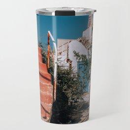 No Trespassers | Santorini, Greece Travel Mug