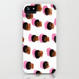 Abstract Pink Blots pattern iPhone Case