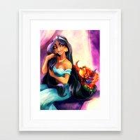 gossip girl Framed Art Prints featuring Gossip by DrMistyTang