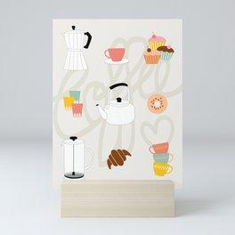 COFFEE LOVE Mini Art Print