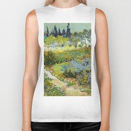 1888-Vincent van Gogh-Garden at Arles, Flowering Garden with Path-88x102 Biker Tank