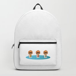 Three Cute Chibi Surfer Boys - Are They Triplets? Backpack