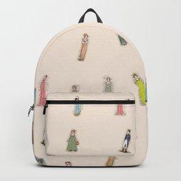 Jane Austen characters - Peach Backpack