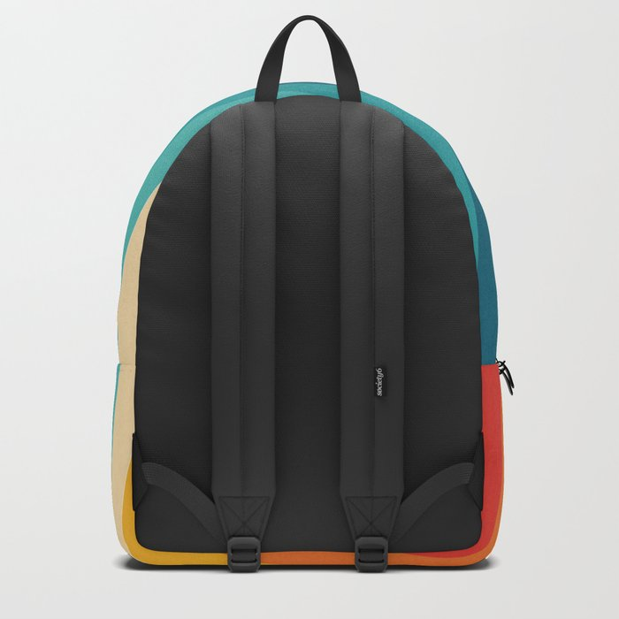 Colorful Retro Stripes  - 70s, 80s Abstract Design Backpack