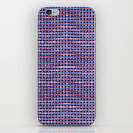 Blue Pink and Tan Zigzag iPhone Skin