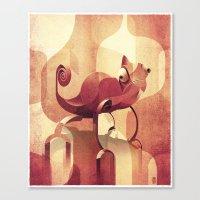 chameleon Canvas Prints featuring Chameleon  by Helder Oliveira