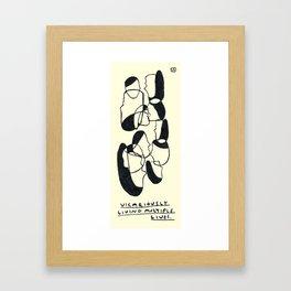 Multiple Lives Framed Art Print