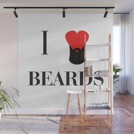 I heart Beards Wall Mural
