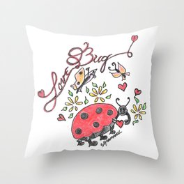 """Love Bug"" Throw Pillow"