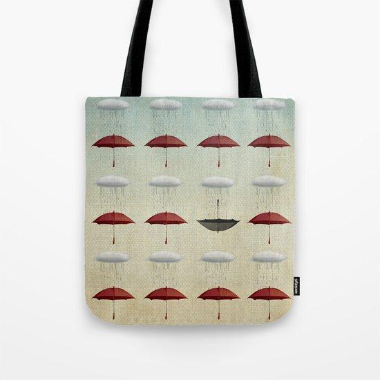 embracing the rain pattern Tote Bag