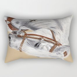 Horse Portrait 01 Rectangular Pillow