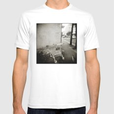 { lost } White MEDIUM Mens Fitted Tee