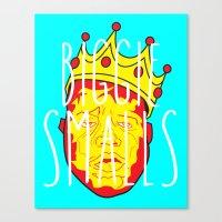 biggie smalls Canvas Prints featuring Biggie Smalls by Hussein Ibrahim