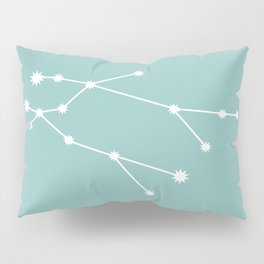 Gemini Zodiac Constellation - Teal Pillow Sham