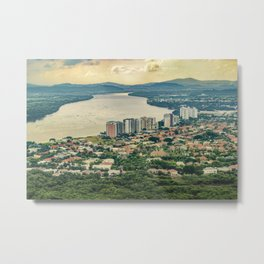 Aerial View of Guayaquil from Window Plane Metal Print