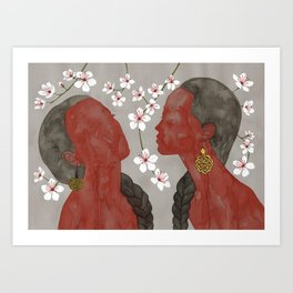cherry blossom girls Art Print