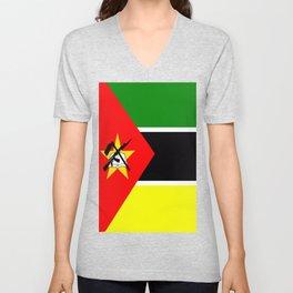 Flag of Mozambique Unisex V-Neck