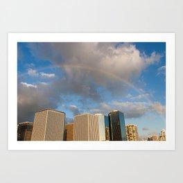 Rainbow in Hawaii Art Print