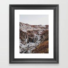 Frozen Falls Framed Art Print