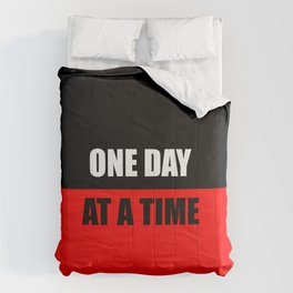 one day at a time inspiration quote Comforters