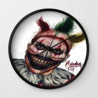 ahs Wall Clocks featuring Twisty-AHS No.2 by MELCHOMM