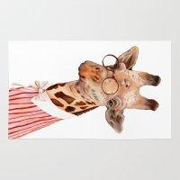 giraffe Area & Throw Rugs featuring Giraffe by Animal Crew