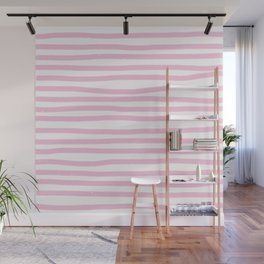 Pink Stripes Horizontal Wall Mural