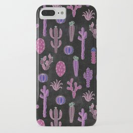 Cactus Pattern On Chalkboard iPhone Case