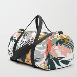 Botanical brush strokes I Duffle Bag