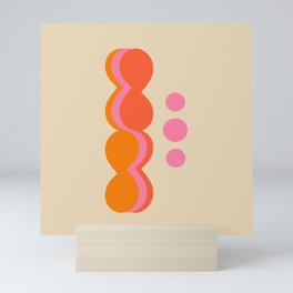 Uende Sixties - Geometric and bold retro shapes Mini Art Print